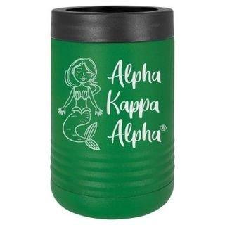 Alpha Kappa Alpha Mermaid Stainless Steel Beverage Holder
