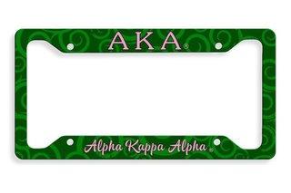 Alpha Kappa Alpha Metal License Plate Frame