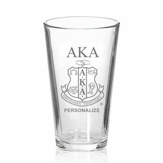 Alpha Kappa Alpha Mixing Glass