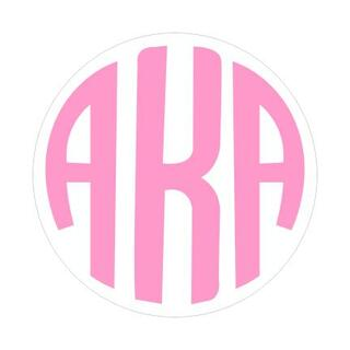 Alpha Kappa Alpha Monogram Decal