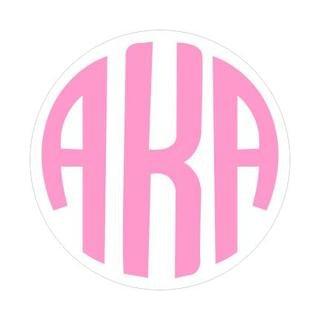 Alpha Kappa Alpha Monogram Decal