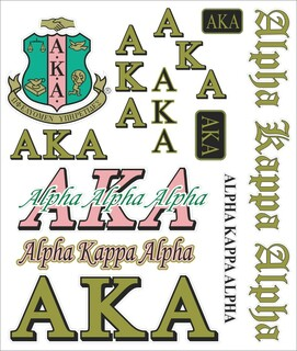 Alpha Kappa Alpha Multi Greek Decal Sheet