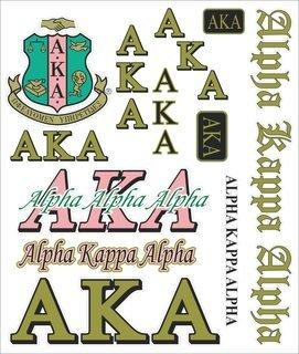 Alpha Kappa Alpha Multi Greek Decal Sheet