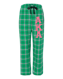 Alpha Kappa Alpha Pajamas -  Flannel Plaid Pant