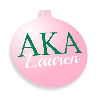 Alpha Kappa Alpha Personalized Christmas Ornaments