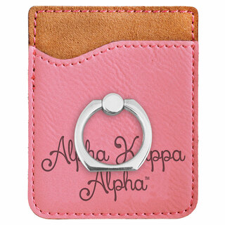 Alpha Kappa Alpha Phone Wallet with Ring