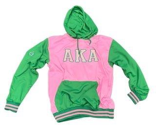 Alpha Kappa Alpha Pink & Green Hooded Pullover