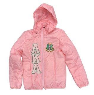 Alpha Kappa Alpha Pink Hooded Jacket
