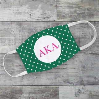 Alpha Kappa Alpha Polka Dots Face Mask