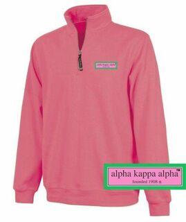 DISCOUNT-Alpha Kappa Alpha Preppy Patch 1/4 Zip Sweatshirt