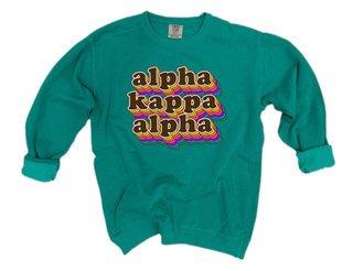 Alpha Kappa Alpha Retro Maya Comfort Colors Crewneck Sweatshirt