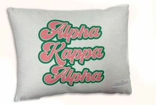 Alpha Kappa Alpha  Retro Throw Pillow