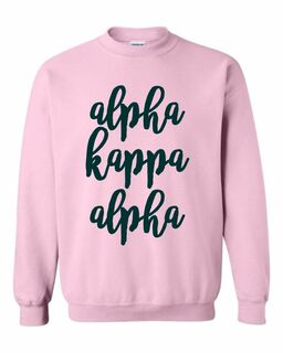 Alpha Kappa Alpha Script Crew Sweatshirt