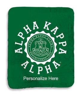 Alpha Kappa Alpha Seal Sherpa Lap Blanket