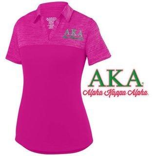 Alpha Kappa Alpha Shadow Tonal Sport Polo