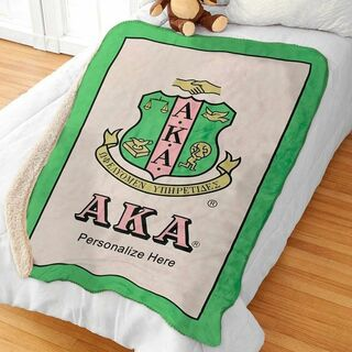 Alpha Kappa Alpha Sherpa Lap Blanket