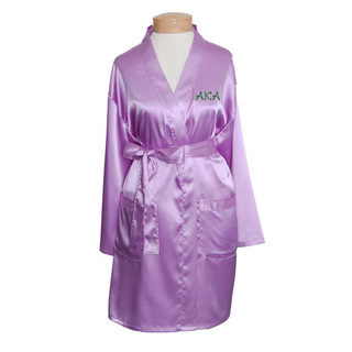 Alpha Kappa Alpha Short Satin Robe