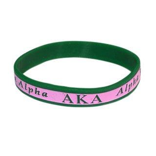 Alpha Kappa Alpha Silicone Bracelet