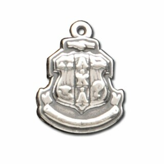 Alpha Kappa Alpha Silver Crest - Shield Charm