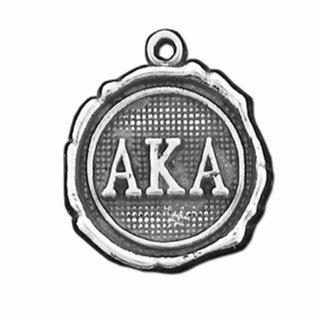 Alpha Kappa Alpha Silver Impressions Charm
