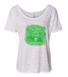 Alpha Kappa Alpha Slouchy Watercolor Motto T-shirt