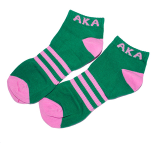 Alpha Kappa Alpha Socks