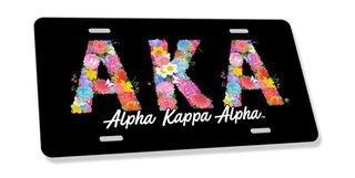 Alpha Kappa Alpha Sorority Floral Greek License Cover