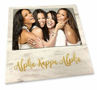 Alpha Kappa Alpha Sorority Golden Block Frame