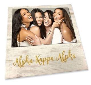 Alpha Kappa Alpha Sorority Golden Block Frame