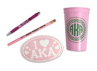 Alpha Kappa Alpha Sorority Love Set $8.95