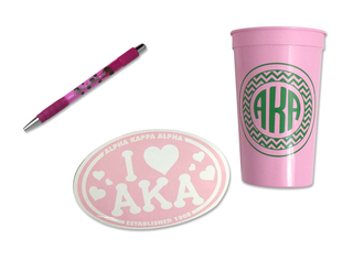 Alpha Kappa Alpha Sorority Medium Pack $7.50