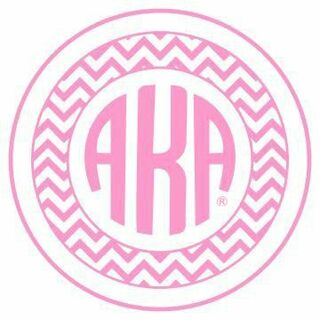 Alpha Kappa Alpha Sorority Monogram Bumper Sticker