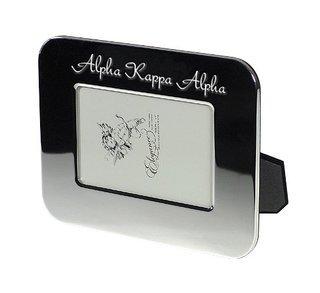 Alpha Kappa Alpha Sorority Silver Script Frame