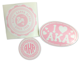 Alpha Kappa Alpha Sorority Sticker Collection - SAVE!
