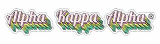 Alpha Kappa Alpha Step Decal Sticker