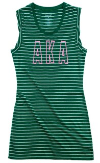 Alpha Kappa Alpha Striped Tee Dress