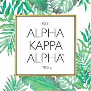 Alpha Kappa Alpha Tropical Sticker Decal