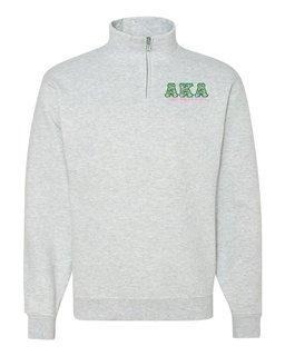 Alpha Kappa Alpha Twill Greek Lettered Quarter zip