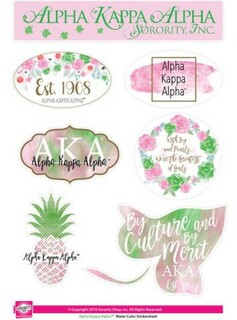 Alpha Kappa Alpha  Water Color Stickers