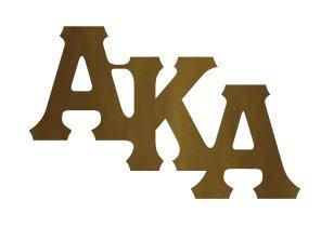 Alpha Kappa Alpha Wood Pin
