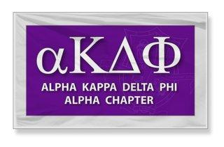 Alpha Kappa Delta Phi 3 x 5 Flag