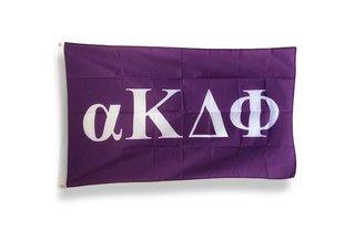 alpha Kappa Delta Phi Big Greek Letter Flag