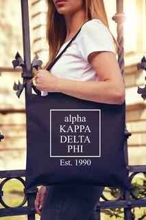 Alpha Kappa Delta Phi Box Tote bag