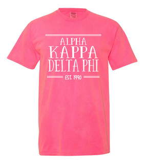 alpha Kappa Delta Phi Comfort Colors Established Heavyweight T-Shirt