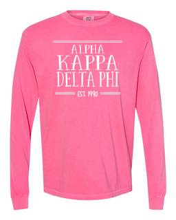 alpha Kappa Delta Phi Comfort Colors Established Long Sleeve T-Shirt