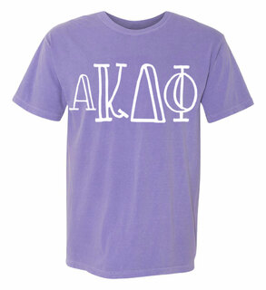 alpha Kappa Delta Phi Comfort Colors Heavyweight Design T-Shirt