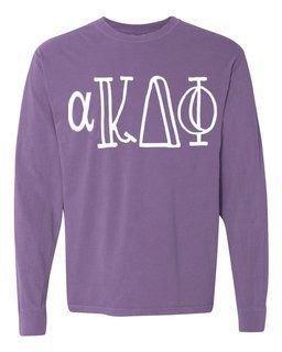 alpha Kappa Delta Phi Comfort Colors Greek Long Sleeve T-Shirt