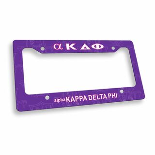 alpha Kappa Delta Phi Custom License Plate Frame