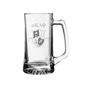 alpha Kappa Delta Phi Glass Engraved Mug