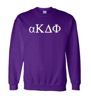 alpha Kappa Delta Phi Greek Letter Crewneck Sweatshirt